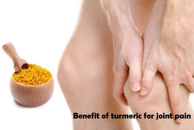 Benefit of turmeric for joint pain